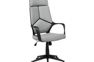 Bild von BELIANI Bürostuhl schwarz/grau höhenverstellbar DELIGHT