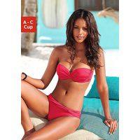 Bild von LASCANA Bügel-Bandeau-Bikini mit verschiedenen Trägervarianten rot