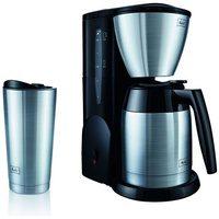 Bild von Melitta Filterkaffeemaschine Single5® Therm M728, 0,62l Kaffeekanne, Papierfilter 1×2, mit Edelstahl-Thermobecher silberfarben