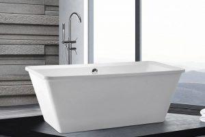 Bild von BELIANI Badewanne freistehend rechteckig ARUBA