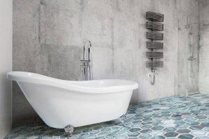 Bild von BELIANI Badewanne freistehend oval CAYMAN