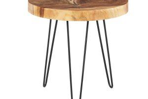 Bild von BELIANI Beistelltisch Holz hellbraun CARMAN