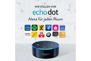Bild von Amazon Echo Dot (Vorherige Generation – 2. Gen.), Zertifiziert und generalüberholt, Schwarz