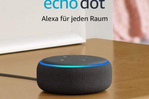 Bild von Echo Dot (3. Gen.) Intelligenter Lautsprecher mit Alexa, Anthrazit Stoff
