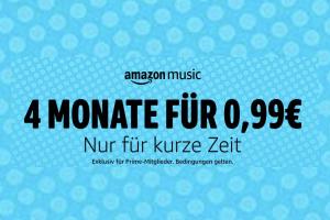Bild von 4 Monate amazon Music für nur 0,99€ statt 31,96€