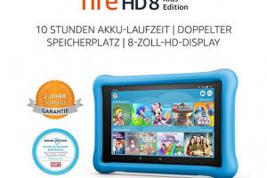 Bild von Fire HD 8 Kids Edition-Tablet, 8-Zoll-HD-Display, 32 GB, blaue kindgerechte Hülle
