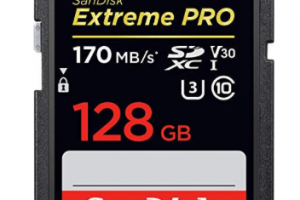 Produktbild von SanDisk Extreme PRO 128GB SDXC Memory Card up to 170MB/s, Class 10, U3, V30