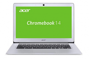 Bild von Acer Chromebook 14 (14 Zoll Full-HD IPS matt, Aluminium Unibody, 17mm flach, bis zu 12h Akkulaufzeit, HDMI, USB 3.0, HD Webcam, Google Chrome OS) Silber
