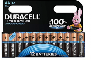 Bild von Duracell Ultra Power Alkaline AA Batterien, 12er Pack