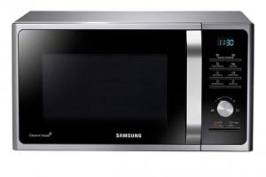 Bild von Samsung MS28F303TAS/EG Mikrowelle / 1000 W / 28 L Garraum (Extra groß) / 16 Vitalprogramme / Eco Modus / Keramik-Emaille-Innenraum / silber