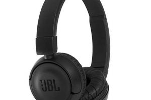 Bild von JBL T450BT On-Ear Bluetooth-Kopfhörer in Schwarz – Kabellose Ohrhörer mit integriertem Headset – Bis zu 11 Stunden Musik streamen mit nur einer Akku-Ladung