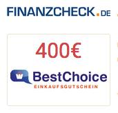 Produktbild von URLAUBSGELD GESCHENKT von Finanzcheck – 400€ Bonus für ein Kredit ab 15000€