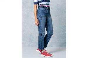 Produktbild von Klepper Damen Jeans-Hose Coolmax Regular Fit Blau einfarbig atmungsaktiv elastisch mit flexiblem Bund temperaturausgleichend