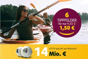 Bild von Lotto 6 aus 49 – spiele 6 Tippfelder für nur 1,50€