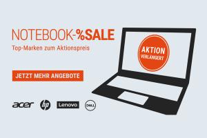 Bild von Mega Notebook Sale bei Cyberport – Spare bis zu 400€ auf Marken wie Acer, Dell, HP oder Lenovo