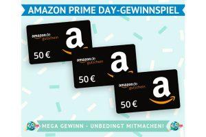Bild von Zu gewinnen: 3×50€ Amazon-Gutscheine zum Amazon Prime Day!