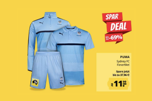 Bild von Besonderheit: Sydney FC Trikot + Shorts + Trainingsjacke