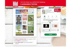 Produktbild von 5 Ausgaben BILD am Sonntag + 10€ Amazongutschein oder 10 € Geldprämie