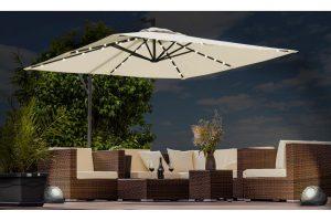 Bild von Swing&Harmonie® Sonnenschirm mit LED-Beleuchtung in der Farbe nach Wahl
