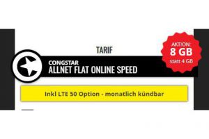 Bild von Samsung Galaxy S9 für 59 € Zuzahlung  + Congstar Allnet Flat Online Speed (8 GB mit 50 MBit/s) für 25 € mtl. – Effektivpreis =>