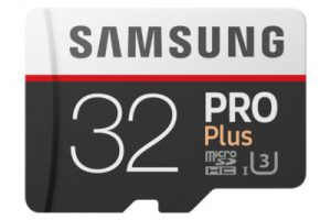 Bild von Samsung Pro Plus 32 GB microSDHC Speicherkarte (100 MB/s, Class 10, UHS-I, U3)