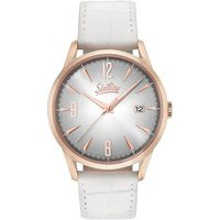 Bild von Sixties Quarzuhr Sunrise Rosé White, SIX500RGL-02-2