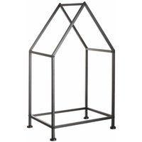 Bild von Kaminholzregal Haus, Aus Metall schwarz 40x30x70,5 cm