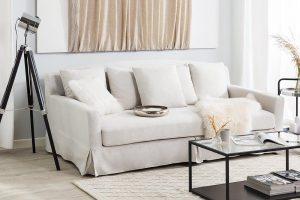 Bild von 3-Sitzer Sofa weiss GILJA