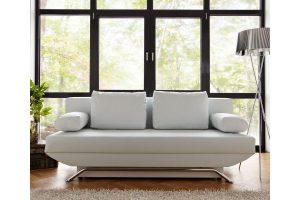 Bild von DELIFE Schlafsofa Cady 200×90 cm Weiss Couch mit Schlaffunktion, Schlafsofas