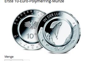 """Bild von Jetzt tauschen: 10-Euro-Münze BRD """"In der Luft"""" = 10,00 €"""
