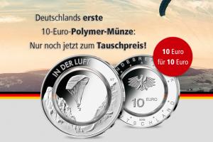 """Bild von Jetzt tauschen: 10-Euro-Münze BRD """"In der Luft"""" = für nur 10,00€"""