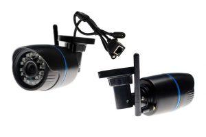 Bild von 1x oder 2x Wasserabweisende HD-Wifi-Kamera mit ONVIF-Protokoll für Außenbereich, optional mit 64 GB SD-Karte