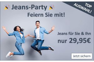 Bild von Jeans-Party! Für sie und ihn nur 29,95€ – u.a Levi's, Mustang, LTB, Wrangler, Tommy Hilfiger, G-Star, Tom Tailor uvm.!
