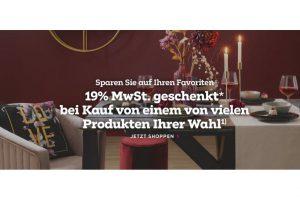 Bild von 19% MwSt. auf Möbel oder Dekoration GESCHENKT /  Gutscheincode: MwSt19