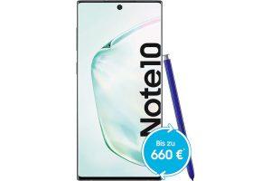 Bild von Nur 5€ Geräte-Zuzahlung: SAMSUNG GALAXY NOTE 10 (256 GB) + Magenta Mobil L (26 GB LTE)