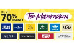 Bild von Bis zu 70% Rabatt auf Top Marken wie Adidas, Lacoste, Tom Tailor, Armani, UGG usw.