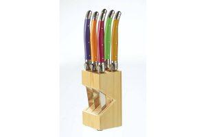 Bild von Laguiole Echtholz-Messerblock mit 6 hochwertigen Steakmessern