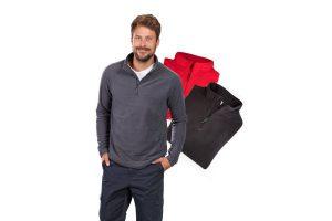 Bild von Poloshirt mit Reißverschluß und Brusttasche