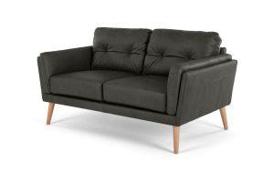 Bild von Sampson 2-Sitzer Sofa, Leder in Grau