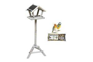 Bild von Schweden Vogelfutterhaus Set mit Streu Futter 1 kg
