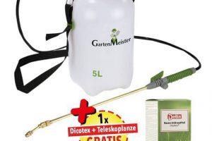 Produktbild von Drucksprühgerät 5 Liter plus Rasen-Unkrautfrei Dicotex 300 ml plus Messing Teleskoplanze 80 – 150 cm
