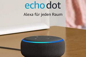 Bild von Echo Dot (3. Gen.), Zertifiziert und generalüberholt, Intelligenter Lautsprecher mit Alexa, Anthrazit Stoff