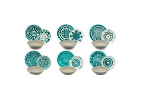 Produktbild von Color Addicted Teller-Set Mandala, 18-teilig