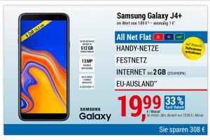 Bild von AKTION: Samsung Galaxy J4+ + Google Android Tablet + Smartwatsch + Bluetooth Kopfhörer + Powerbank + Bluetooth Lautsprecher = 19,99€