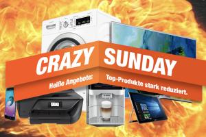 Bild von Crazy Sunday bei expert.de! Top Produkte stark reduziert z.B. Garmin, Braun oder Philips
