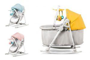 Bild von Kinderkraft Unimo 5-in-1 Babyschale, Wippe, Liege, Bettchen und Stuhl in Einem in Gelb, Hellblau oder Rosa