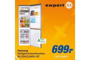 Bild von Samsung Kühl-/Gefrierkombination RL33N321MSS/EG, RB3000 (Energieeffizienzklasse A+++, 315 Liter Nutzinhalt, NoFrost, Edelstahloptik) für nur 699€