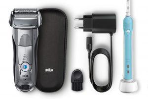 Bild von Braun Series 7 7893s Wet&Dry Herrenrasierer + Zahnbürste