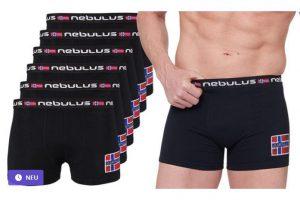 Bild von Nebulus 6er-Pack Diego Boxershorts in Schwarz und in der Größe nach Wahl