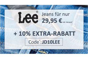 Bild von LEE Jeans für nur 29,95€ inkl. Versand + 10% EXTRA-RABATT mit Code JD10LEE